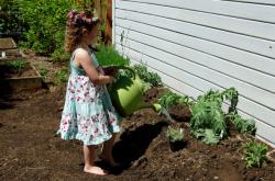 Child in garden 1