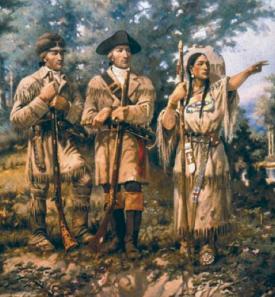 Clark & Lewis with Sacagawea