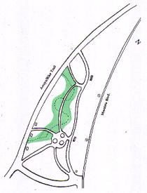 The riparian zone at the Granada Native Garden